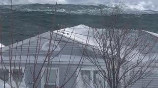Massive Waves Crash Off Newfoundland Coast