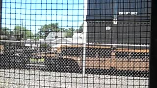 Conneaut Ohio train museum watching train go by