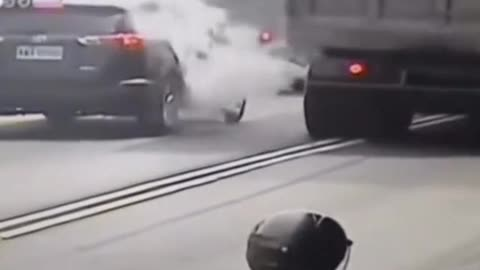 Truck tire blows