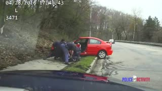 DASHCAM: Police Pursuit Ends in Wicked Crash & Suspect Takedown