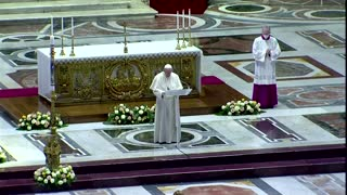 Pope Francis conducts a slimmer Easter Mass