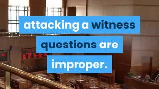 Harassing The Witness