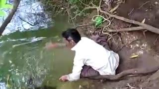 Animal Reaction of their savior