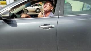 Man Swears and Yells at Woman Driving