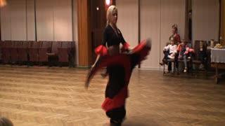 Red black dress dancing!