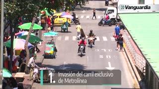Infracciones de motociclistas en Bucaramanga