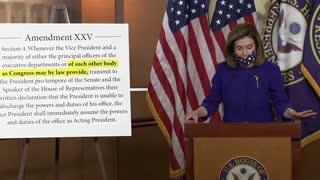 Pelosi announces bill on 25th Amendment after questioning Trump's health