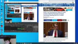 President Donald Trump's Lawyers Opening Statement Removed From YOUTUBE!!!?