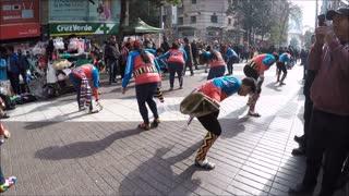 Peruan and Bolivian cultural dance musin in Santiago, Chile