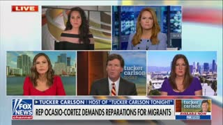 "Tucker Carlson Calls AOC ""Racist"" For Radical Immigration Rhetoric"