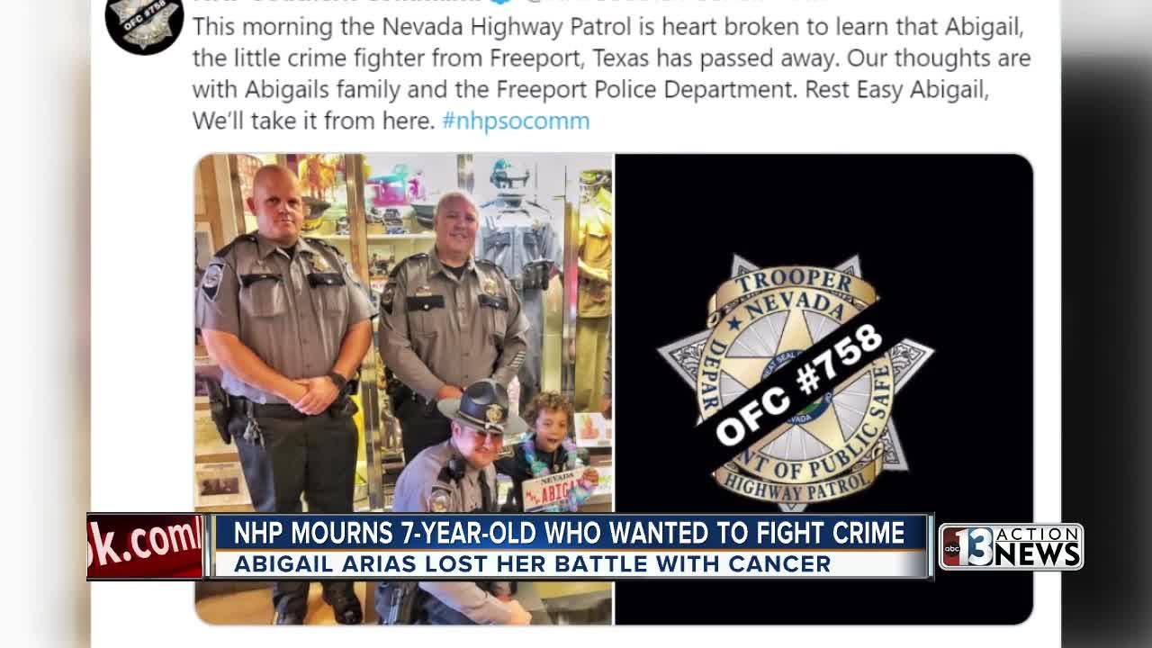 Nevada Highway Patrol mourns 7-year-old honorary trooper