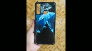 DIY Handpainted phone case Wolf theme