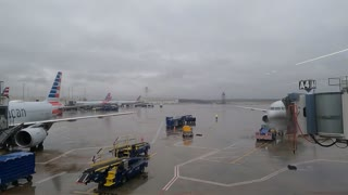 Time lapse of airport ground operations