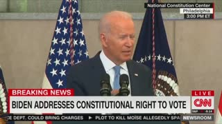 Biden Calls Voter Integrity Laws 'Most Significant Threat' to U.S. 'Since the Civil War'