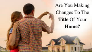 Inspect What You Expect: Home Title Changes