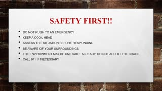 GA Basic Security Officer Course Part 9 First Aid