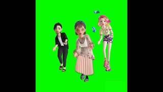 Animetid green screen video