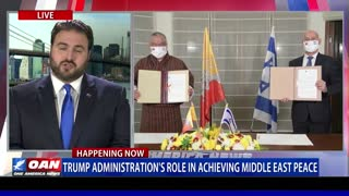 Trump admin.'s role in achieving peace in the Middle East