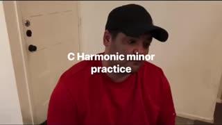 C harmonic minor scale/key practice