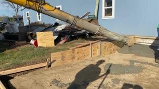 Barn Addition Concrete Pour