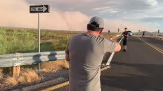 Dust Storm Rolling Across Arizona