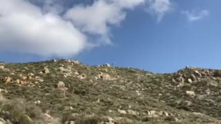 Helicopter flying over Echo Hills, Hemet California
