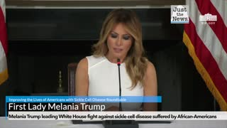 Melania Trump leading White House fight against sickle cell disease suffered by African-Americans