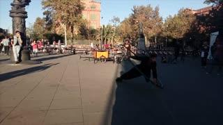 Gravity Defying Street Performance