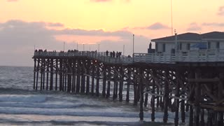 Crystal Pier Sunset Time Lapse