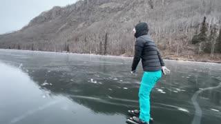 Skating Along Freshly Frozen Ice