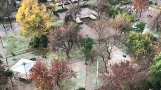 Hail rain in Santiago, Chile