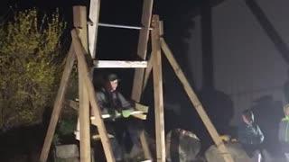Three Boys Build a Super Swing