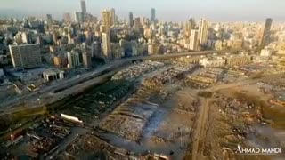 Imagens drone Beirute