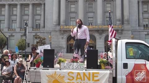 (Allan Stevo, My Body, My Choice) Medical Freedom Rally, San Francisco, August 27, 2021