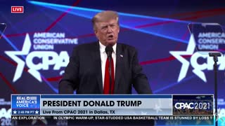 Former President Donald Trump speaks at #CPAC2021