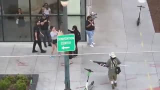 Security Does NOTHING While ANTIFA Attacks Conservative Woman at Event