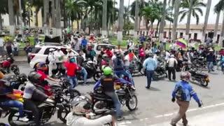 Centro: protestas de motocilistas en Bucaramanga