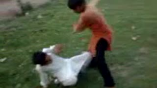 little boys fight