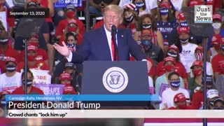 """Crowd chants """"lock him up!"""" and Trump Campaign Rally"""