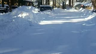 Snow conditions, #BigBearLake , dangerous driving conditions
