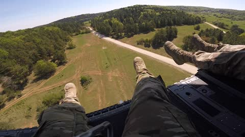 Chinook GoPro footage from Germany