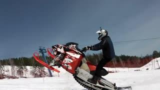 Snowmobile Uphill Race
