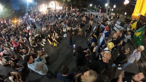 Melbourne Snap Anti Lockdown Protest 12 Feb 2021