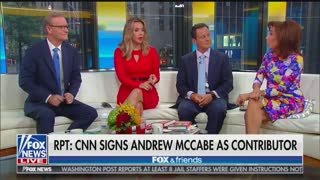 Jeanine PIrro bursts out laughing at McCabe CNN news