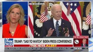 Donald Trump responds to Biden press conference