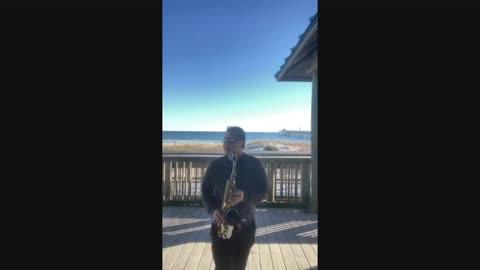 Beach Sax collage mix performance