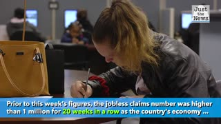 Jobless claims drop below 1 million for the first time since March