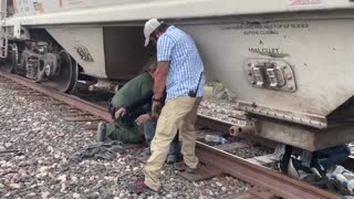 Border Patrol stops a train and discovers 20+ illegals stuffed