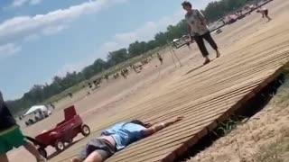 Man At Woodbine Beach Part 2