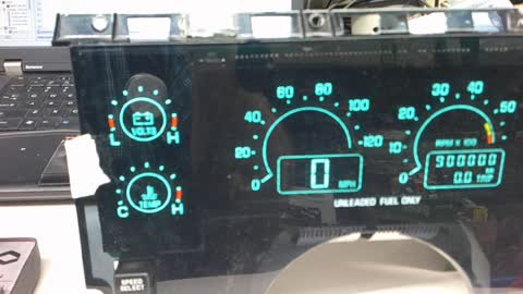 Testing a Riviera Instrument Cluster for use in a Fiero